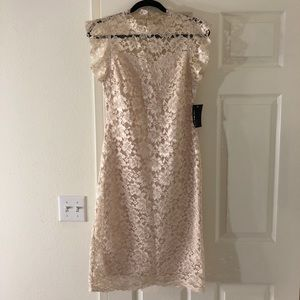 Dresses & Skirts - Champagne/Cream Lace Dress